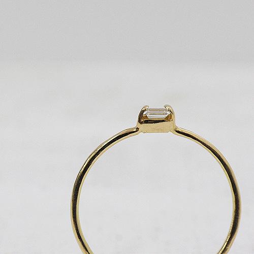 18金 hirondelle(イロンデール)k18 hr-10w-286 バゲットダイヤリング【送料無料】