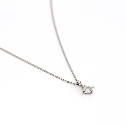 ネックレス hirondelle(イロンデール)pt900 pn-29 クロス留めローズカットダイヤ ネックレス【送料無料】