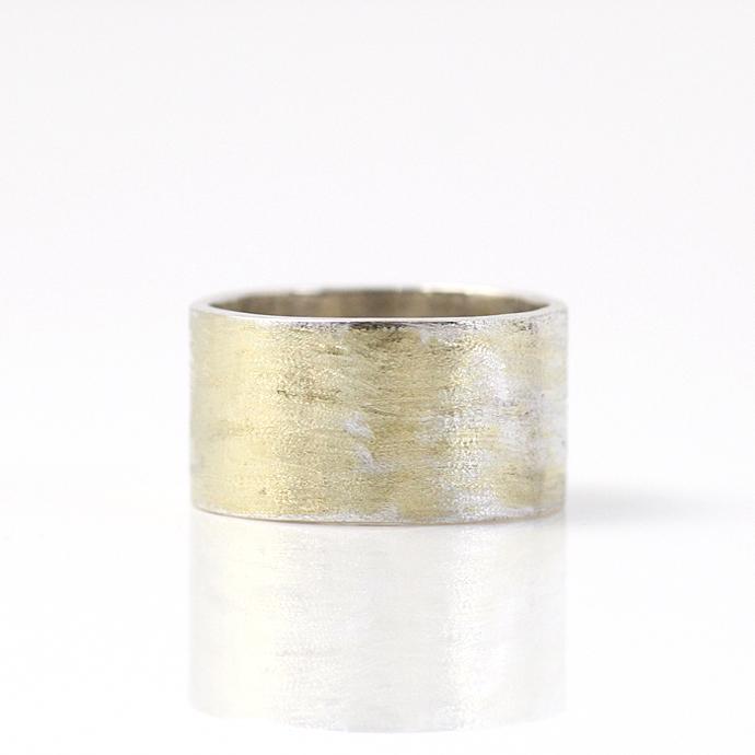 hirondelle(イロンデール) k18 silver sr-14-16s プレートリング 14 / マット【送料無料】 市場