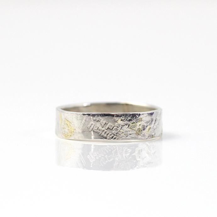 hirondelle(イロンデール) k18 silver sr-17-16s coinスタンプ プレートリング 17 S【送料無料】 市場