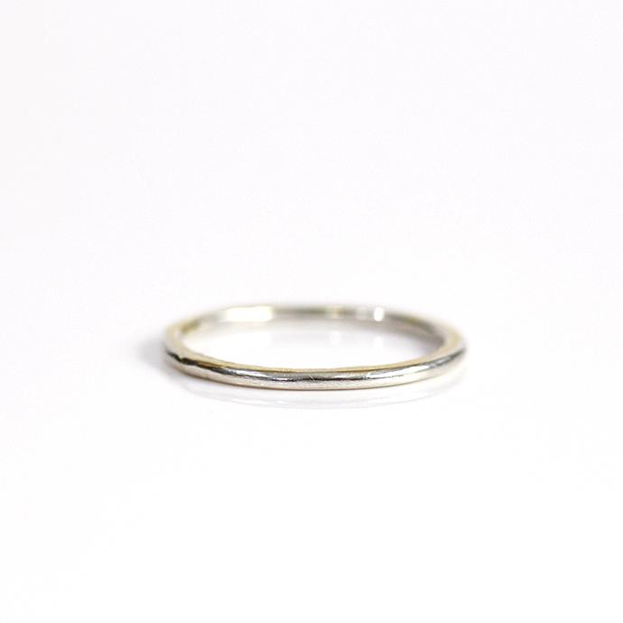 hirondelle et pepin(イロンデール エ ペパン) k18 silver sr-19-17w ペタンコプレートリング 19 S【送料無料】 市場