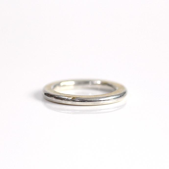 hirondelle et pepin(イロンデール エ ペパン) k18 silver sr-21-17w ペタンコプレートリング 21 L【送料無料】