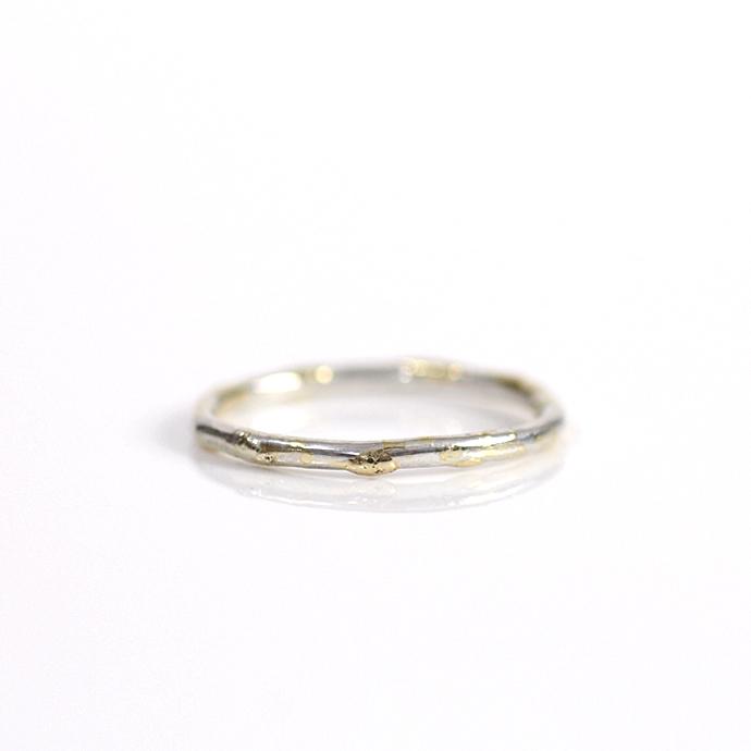 hirondelle et pepin(イロンデール エ ペパン) k18 silver sr-22-17w デコボコリング S / シルバー【送料無料】 市場