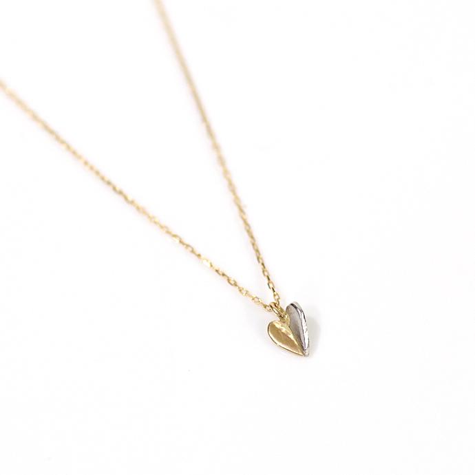 hirondelle et pepin(イロンデール エ ペパン) k18 pt900 pn-33-17w プラチナ&ゴールド ハートネックレス【送料無料】 市場