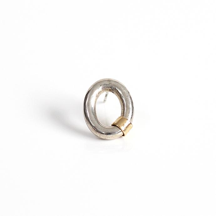 hirondelle et pepin(イロンデール エ ペパン) k18 silver sp-16-18s ビッグチェーンピアス 1(片方タイプ)【送料無料】 市場