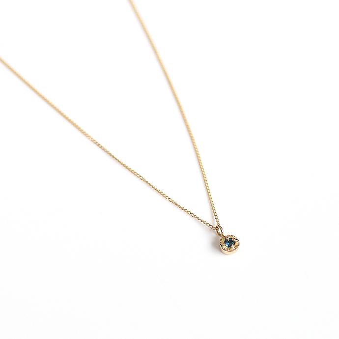 hirondelle et pepin(イロンデール エ ペパン) k18 hn-507-18s ブルーダイヤ ネックレス【送料無料】