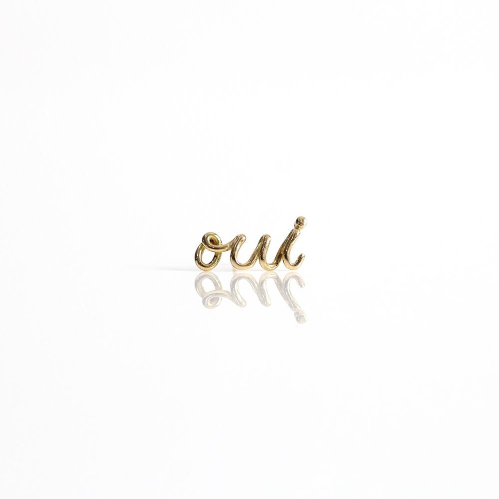 hirondelle et pepin(イロンデール エ ペパン) k18 hp-20ss-638 oui ウィー ピアス / ゴールド(片耳タイプ)【送料無料】ギフト プレゼント ゴールドアクセサリー シンプル 上品 大人 誕生日 プレゼント