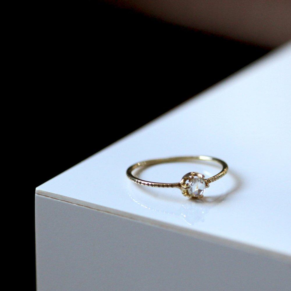18金 ローズカット ダイヤモンド hirondelle(イロンデール)k18 hr-9s-262 ローズカットダイヤリング 【送料無料】 市場