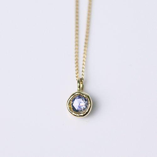 18金 ネックレス hirondelle(イロンデール)k18 hn-353 レイヤーネックレス/サファイア×ダイヤ【送料無料】 市場