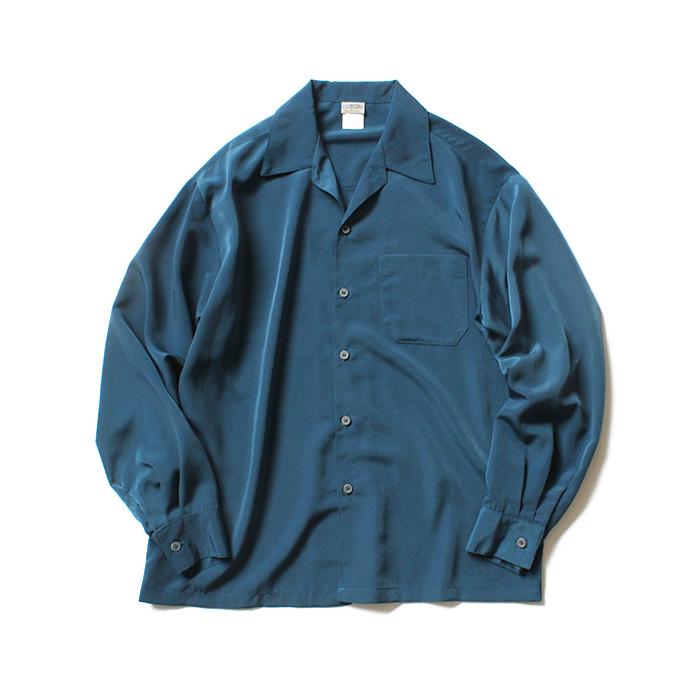 12/20 20:00~23:59 CalTop(キャルトップ) / 3003 Open Collar L/S Shirts - Sage Blue オープンカラー長袖シャツ セージブルー