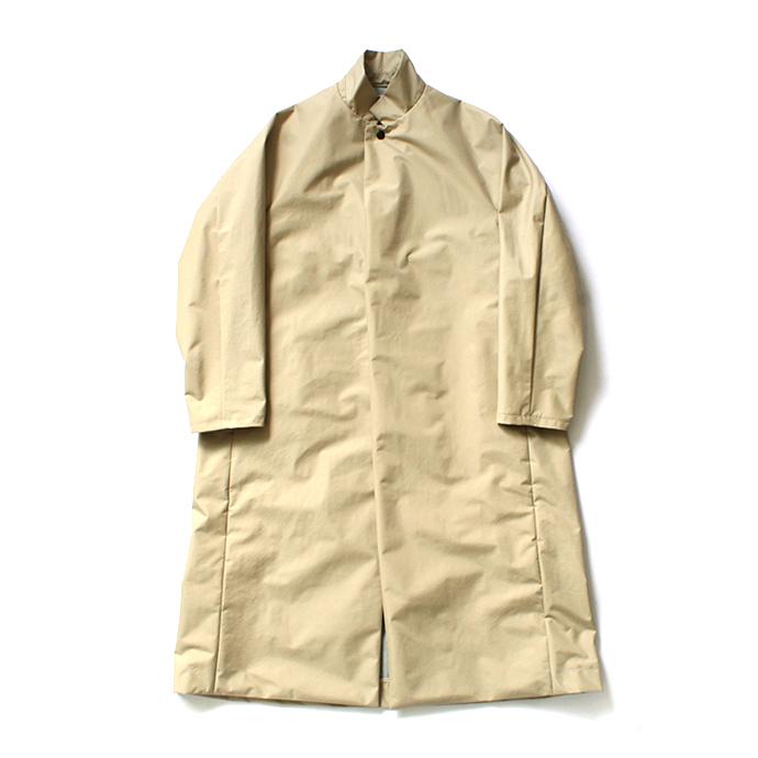 Beige Powderhorn ポイント消化 P.H. 買いまわり M. COAT PH20FW-002 3Lナイロン - シェルコート  / Mountaineering(パウダーホーン・マウンテニアリング) 買い周り LONG 買い回り