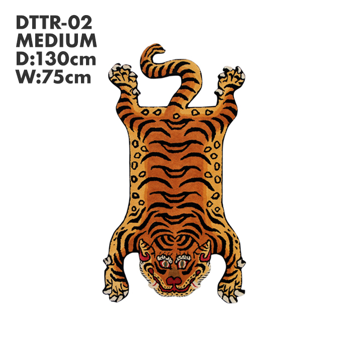 【送料無料】チベタンタイガーラグ DTTR-02 レッド Mサイズ【代引き不可】