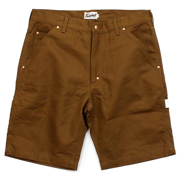 Taurus(トーラス)/ Canvas Tool Shorts キャンバスツールショーツ - Brown 市場