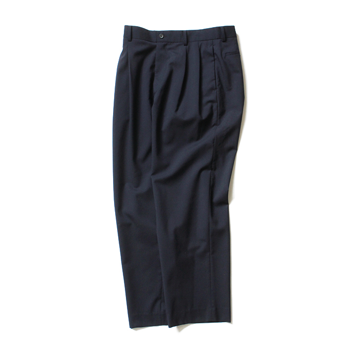THEE(シー)/ high-rise wide trousers ハイウエストワイドトラウザーズ WT-PT-02 Navy 市場