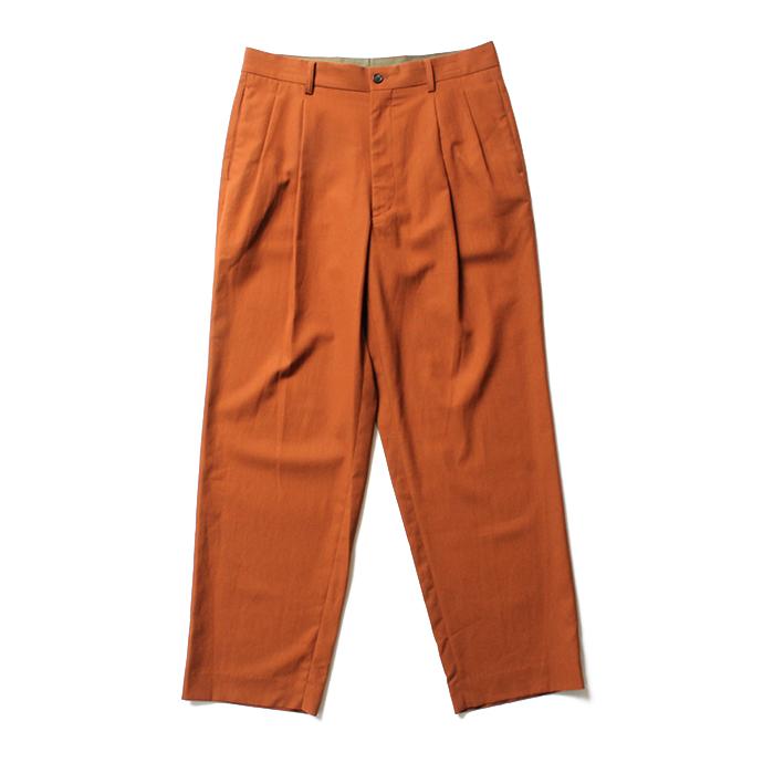 買いまわり 買い周り 買い回り ハイウエストワイドトラウザーズ ポイント消化 THEE(シー)/ HT-PT-02-A high-rise trousers  Brown wide