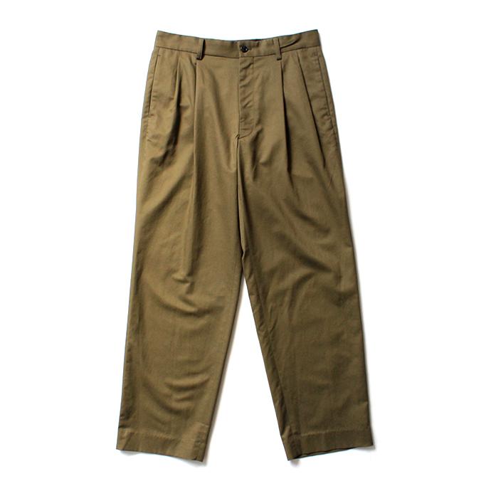 THEE(シー)/ high-rise wide trousers ハイウエストワイドトラウザーズ HT-PT-02-B Olive  買い回り 買い周り 買いまわり ポイント消化