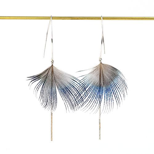 moca.arpeggio(モカ・アルペジオ)FP-1 Feather ピアス/ブルー