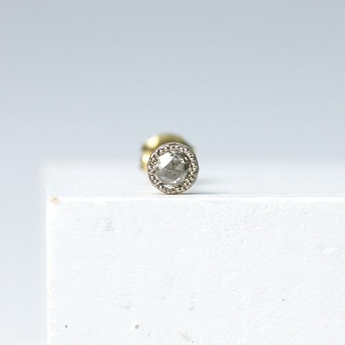 sala(さら) / k18 ローズカット一粒ダイヤ ピアス(片方タイプ)   市場