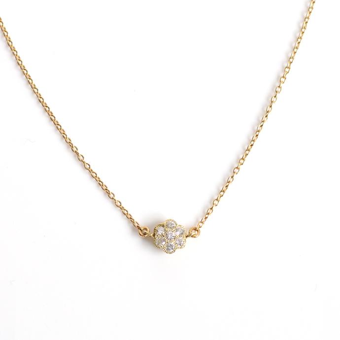 sala(さら) / k18 フラワーダイヤ ネックレス   市場