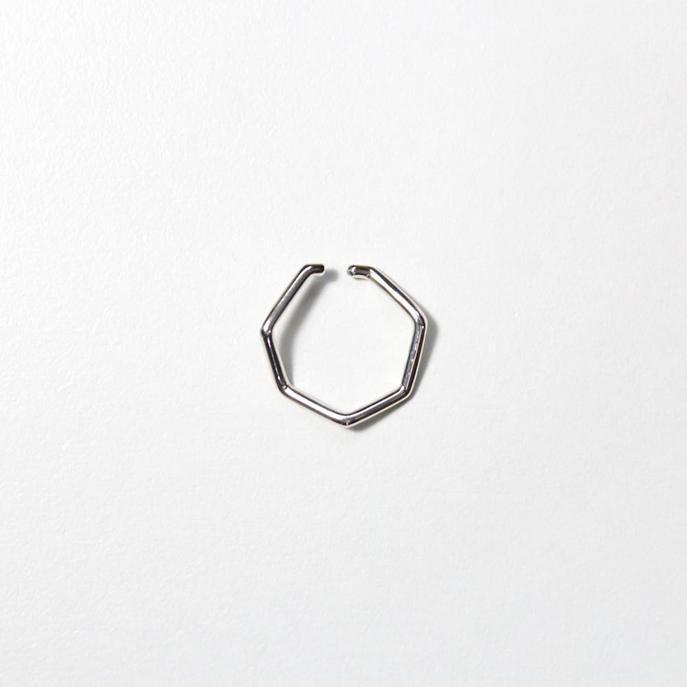 siki / silver 七角形イヤーカフ L シルバー/ NNK-EC01L-SV■イヤカフ イアカフ シルバーアクセ ノンホールピアス シンプル カジュアル silver925 レディース メンズ