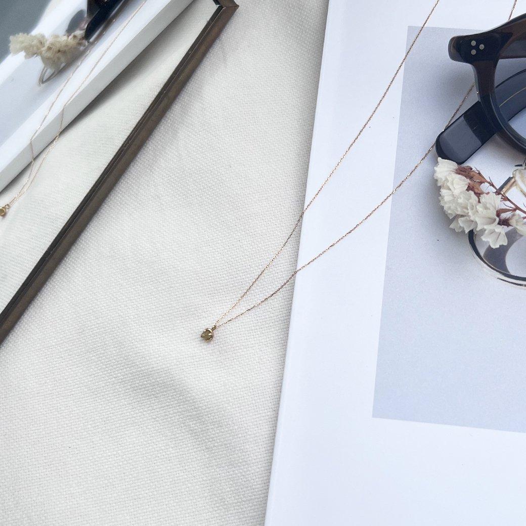 sinc(シンク) k18 一粒 原石ダイヤモンド ネックレス/イエロー  市場 買い回り 買い周り 買いまわり ポイント消化