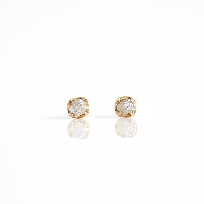 sinc(シンク) k18 原石ダイヤモンドピアスM/グレー 市場 買い回り 買い周り 買いまわり ポイント消化