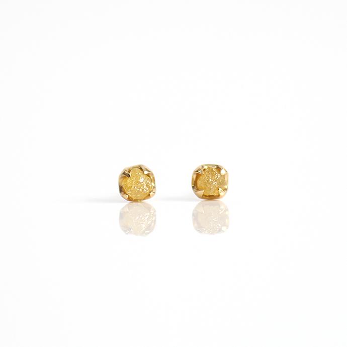 sinc(シンク) k18 原石ダイヤモンドピアスM/イエロー 市場 買い回り 買い周り 買いまわり ポイント消化