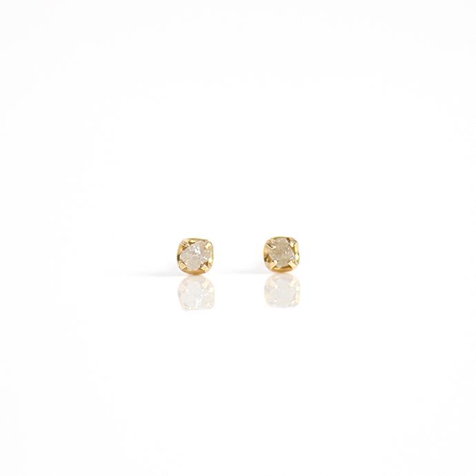 sinc(シンク) k18 原石ダイヤモンドピアスS/グレー 市場 買い回り 買い周り 買いまわり ポイント消化