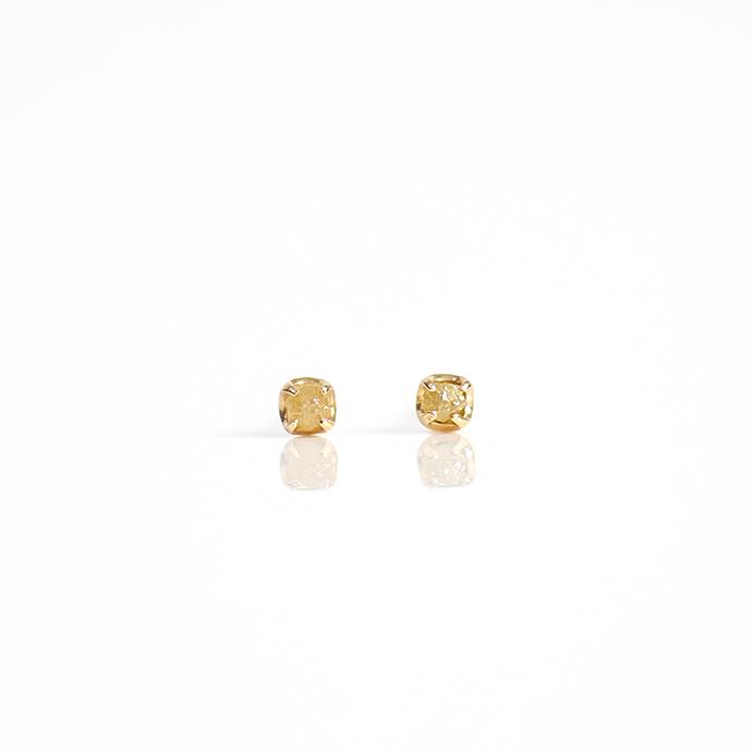 sinc(シンク) k18 原石ダイヤモンドピアスS/イエロー 市場 買い回り 買い周り 買いまわり ポイント消化