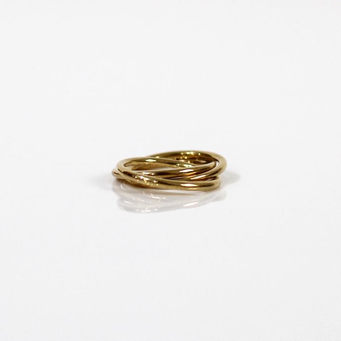 UNKNOWN.(アンノウン) U523 TRIPLE リング S / 真鍮■ブラス ゴールドアクセサリー 指輪 プレゼント ギフト シンプル 男女兼用 女性 男性 誕生日プレゼント クリスマスプレゼント
