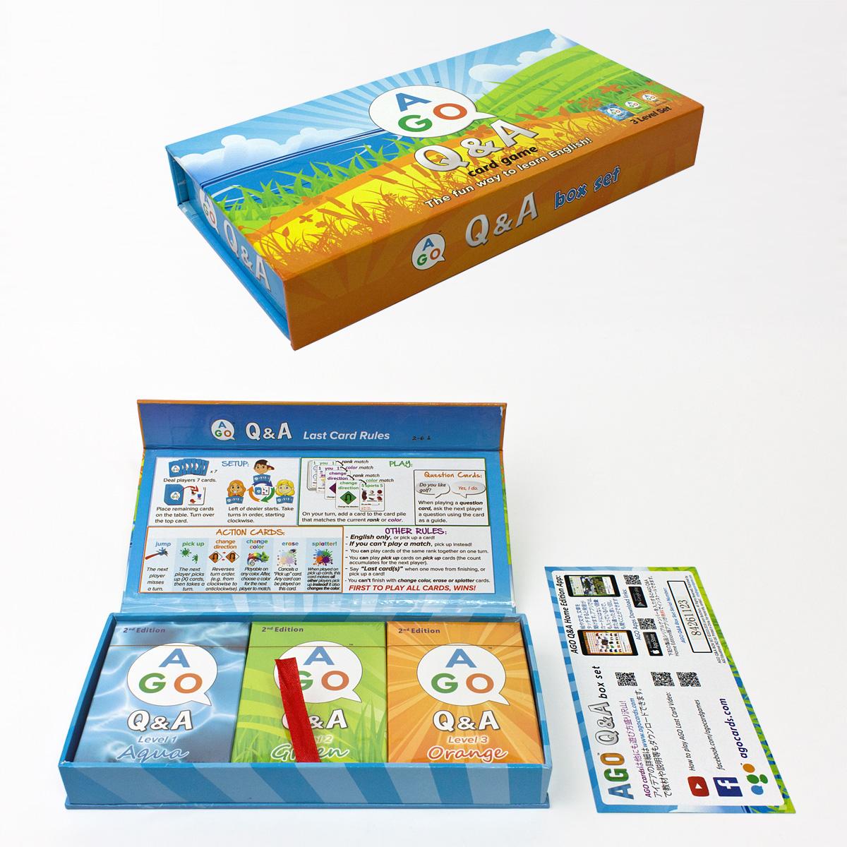 楽天市場】小学生 英語教材 ago(エイゴ)q&a カードゲーム 3レベル