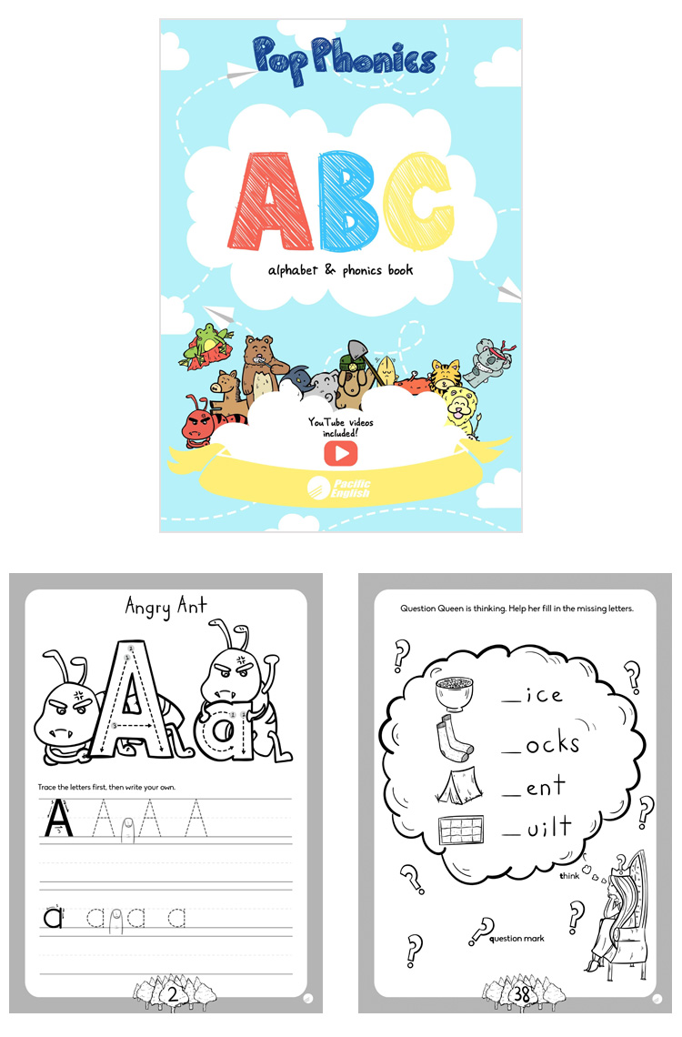 Infant English Teaching Materials ABC Pop Phonics Set