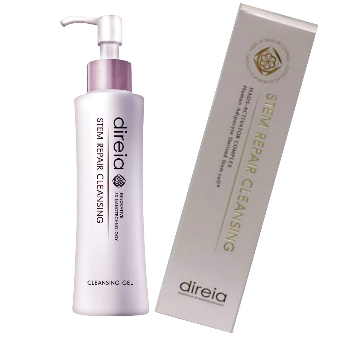 Direia クレンジング 150ml メイクはもちろん、肌奥にひそみ、肌荒れの原因ともなる余剰皮脂までW洗顔なしで取り除くディレイア Stem Repair Cleansing ステム リペア ヒト幹細胞培養液 送料無料