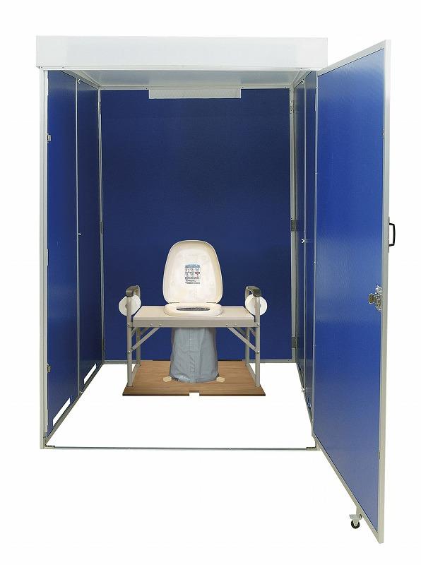 災害用マンホール直結誘導式折畳トイレ台座
