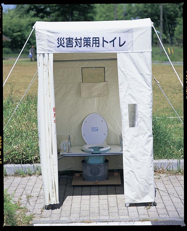 マンホール対応型トイレ(テント型)