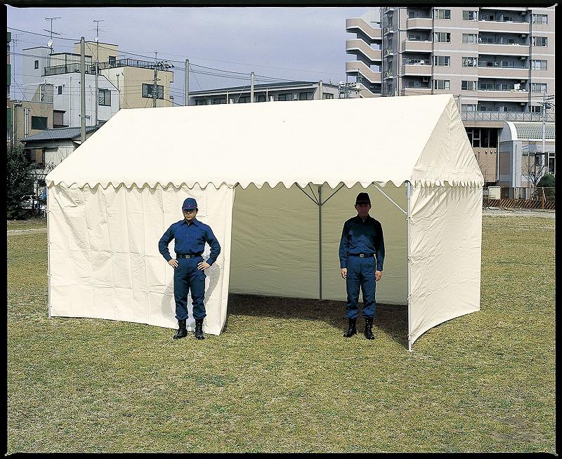 OK式テント 1.5×2間型 屋根幕付+三方幕付