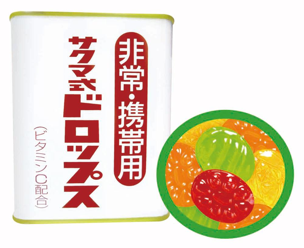 サクマ非常携帯缶入ドロップ 【40缶入】