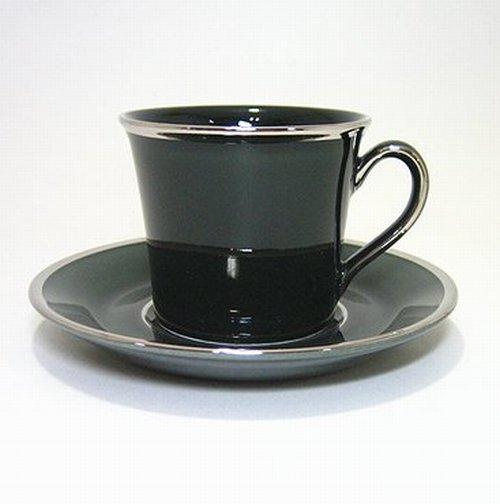 ウェッジウッド・ローレルブラック コーヒーC/S