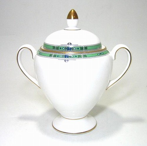 ウェッジウッド・ジェード・壷ロゴ シュガートロフィー H16cm