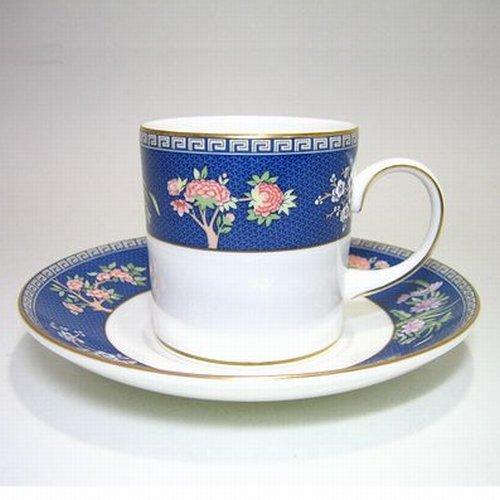 ウェッジウッド・ブルーサイアム コーヒー(キャン)C/S カップ ソーサー