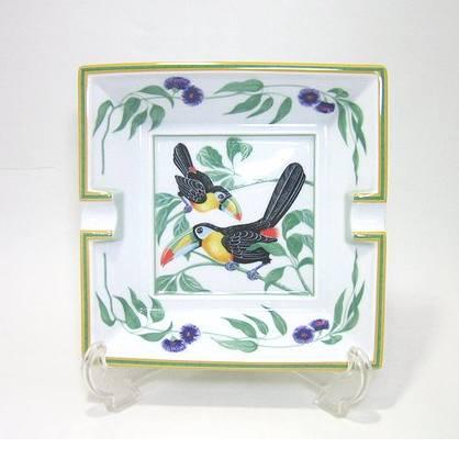 エルメス・トゥカン 正方形灰皿 16cm