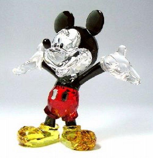 スワロフスキー188300・ディズニー ミッキーマウス H10.5cm