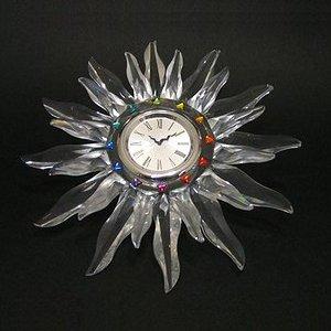 スワロフスキー 221626・ソラリス 13cmテーブルクロック