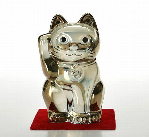 バカラ 【オブジェ 2612】 997 まねき猫 H10cm ゴールド
