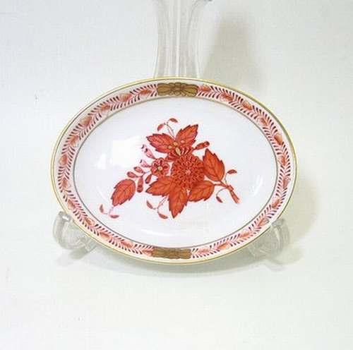 ヘレンド・アポニーオレンジAOG 10cmオーバルディッシュ7781