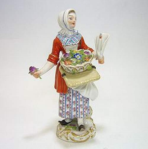 マイセン人形・パリの行商人 花売り娘・60235