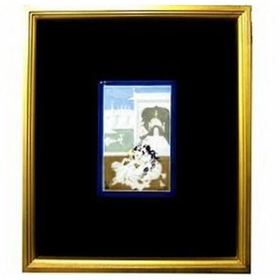 マイセン・くつろぐ王様と王妃931091 金箔額装磁板画95057