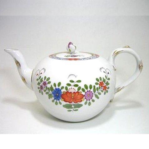 マイセン・インドの花多彩色・451110 ポット
