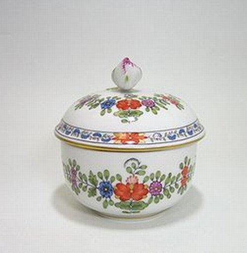マイセン・インドの花多彩色・451110 シュガー