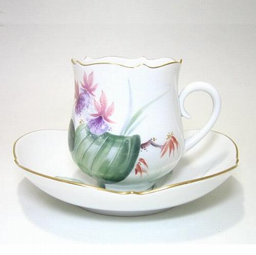 マイセン 【水辺の花・500310】 コーヒーC/S・23582-11